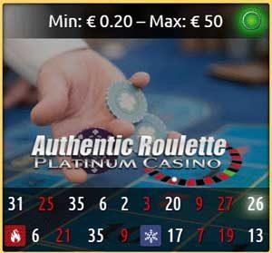 Authentic Platinum Roulette