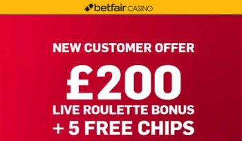 betfair live roulette bonus