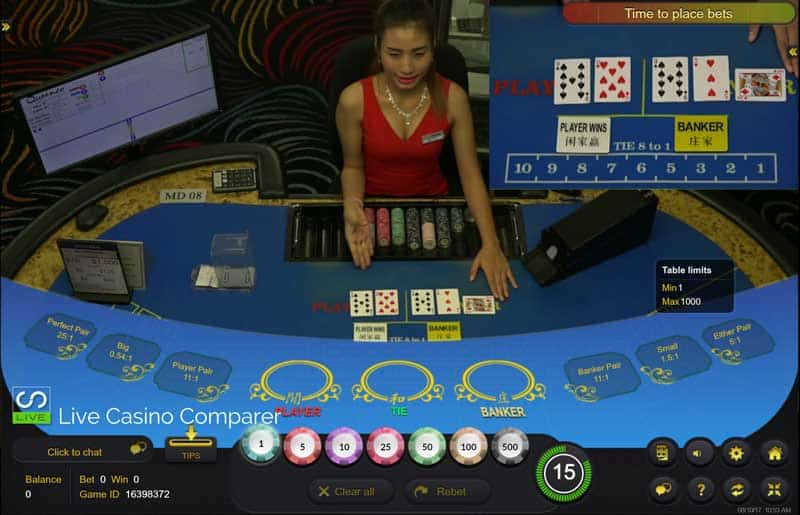 Queenco LIve Streamed Baccarat