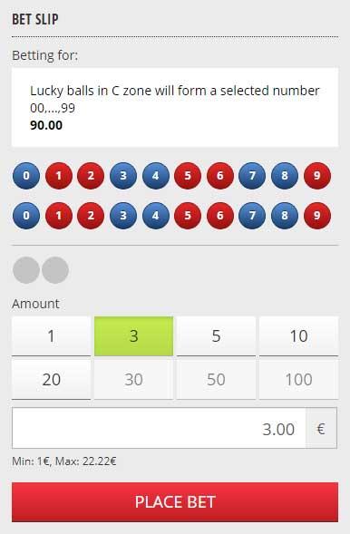 Betgames Lucky 6 Bet Slip