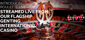 Roulette live from genting International Casino