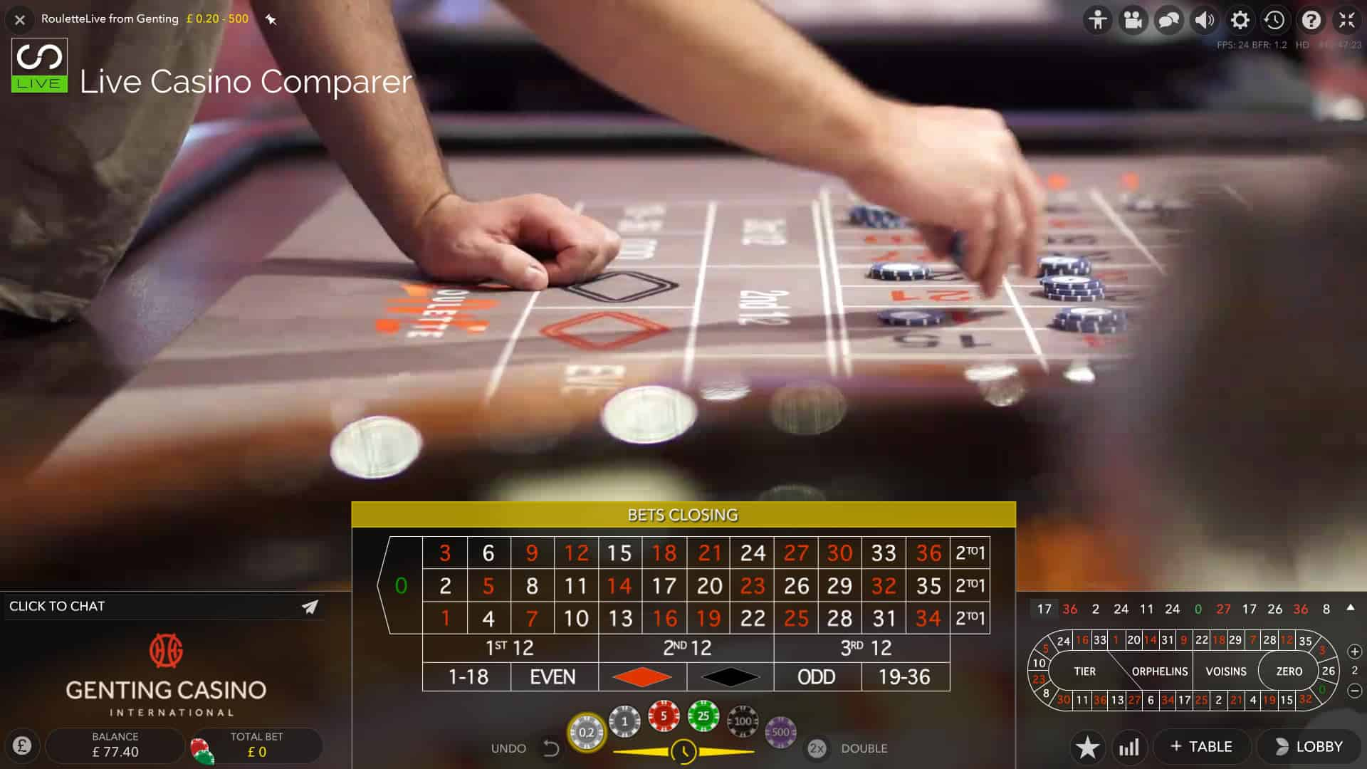 genting casino roulette minimum bet