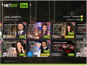 Play Free NetEnt Live Casino Games