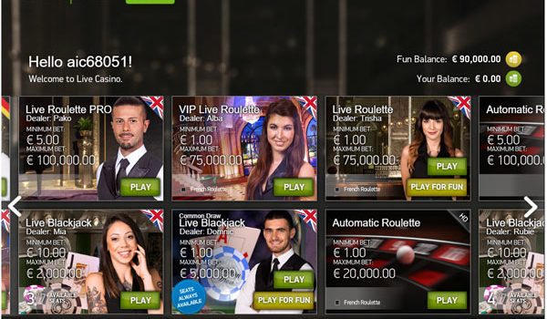 Play Free NetEnt Live Casino Games