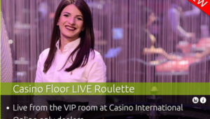 Authentic Gaming casino floor with leo vegas