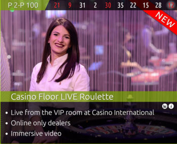 Authentic Gaming casino floor with leo vegas