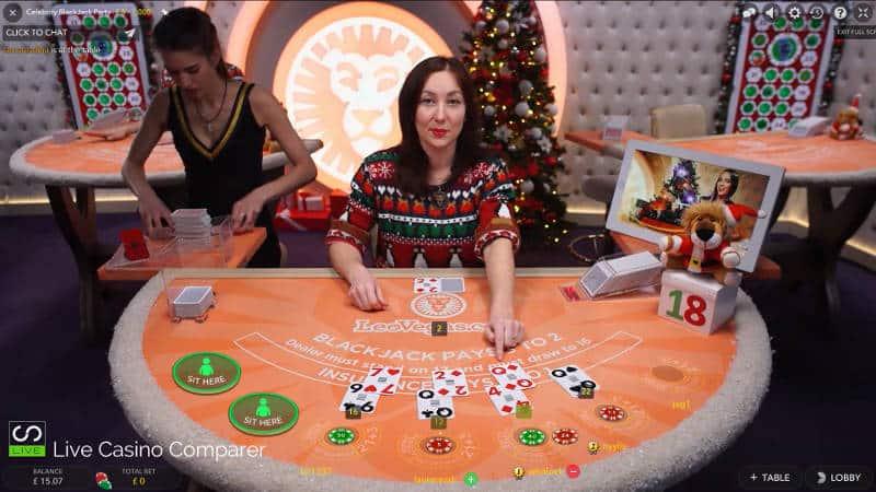 leo vegas christmas live casino