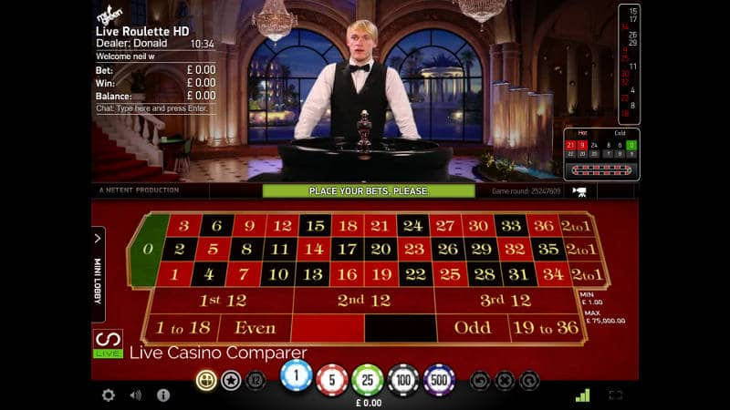Mr Green Live Casino Review - Loads of games with dedicated tables