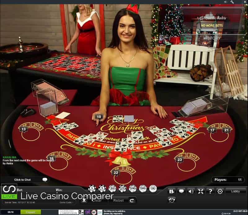 playtech christmas live casino blackjack