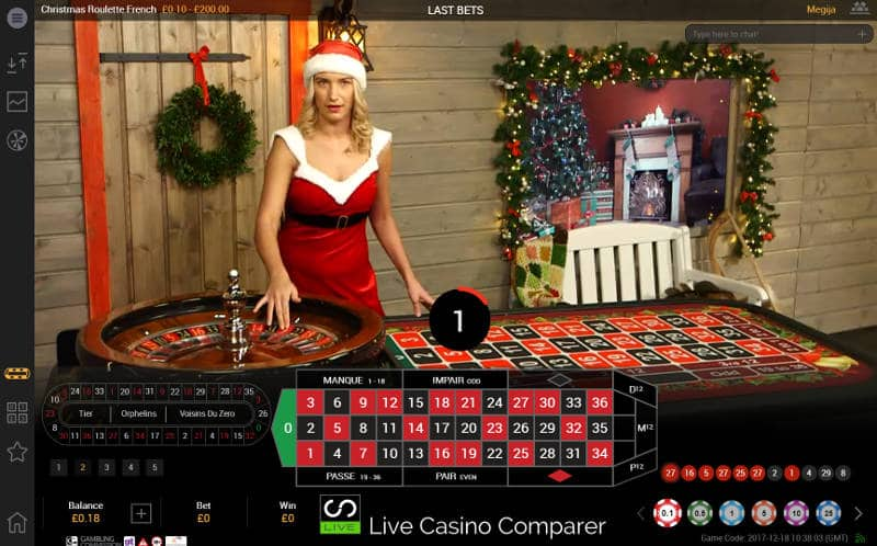 playtech christmas live casino french roulette