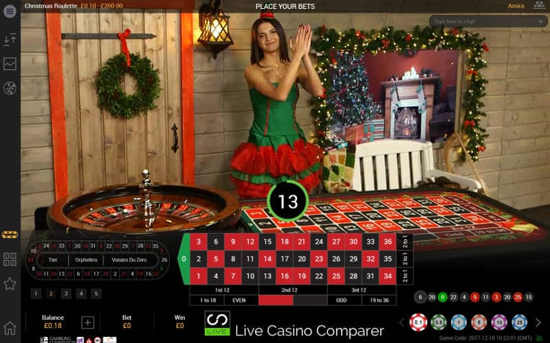 playtech christmas live casino roulette