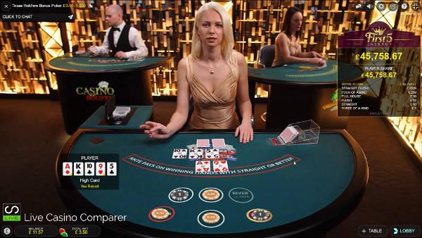 Evolution Live Texas Holdem Bonus poker 3rd Round