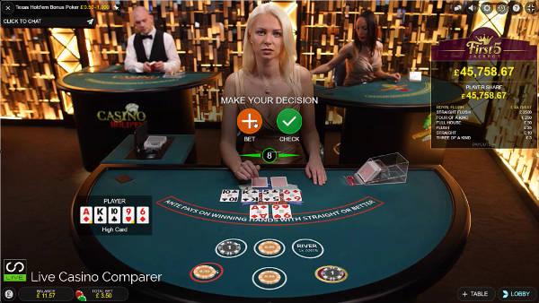 Evolution Live Texas Holdem Bonus poker 4th Round