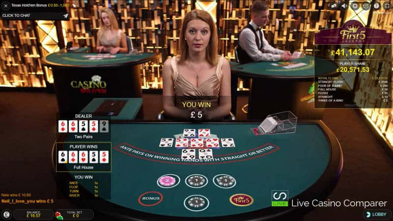 Evolution Texas Hold'em Bonus Poker - Full House