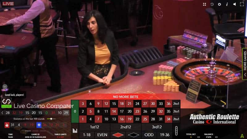 casino international live roulette table