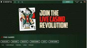 Codeta live casino