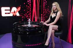 Entertasia Dealer in Latvia live casino studio