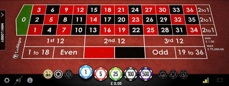 netent live european roulette table layout