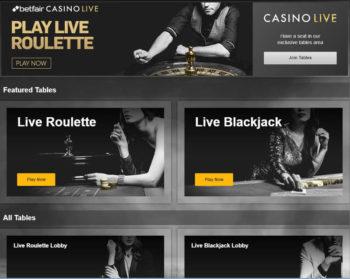 Betfair live casino review