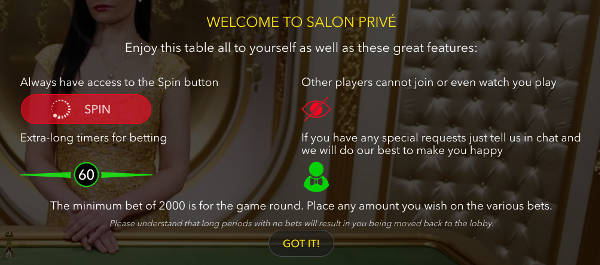 welcome to the salon prive