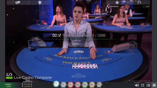 unlimited Blackjack with Auto splits - European Studio