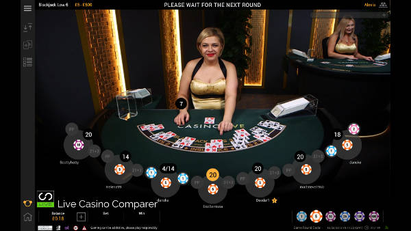 betfair dedicated blackjack table