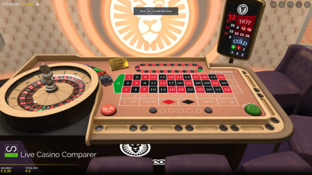 Evolution Gaming FPG Roulette Full table view
