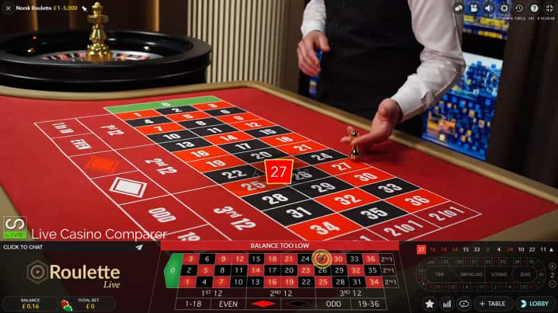 norwegian roulette table