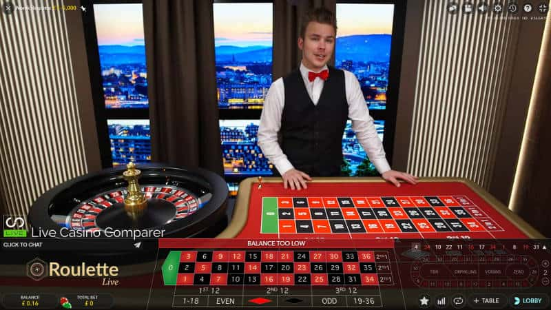 Norwegian roulette male dealer