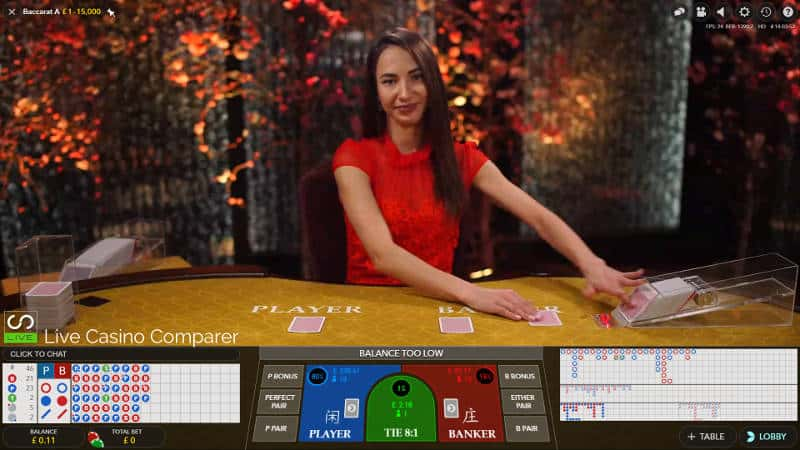 Evolution Standard Baccarat - full screen