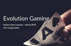 Evolution first quarter results 2018
