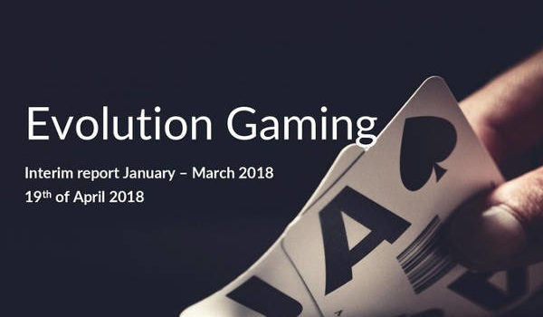 Evolution first quarter results 2018