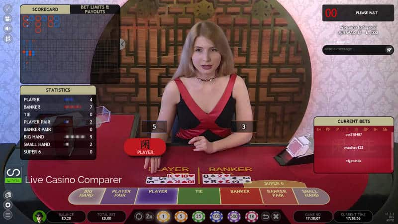 Extreme Live gaming Baccarat