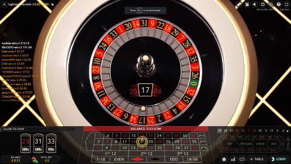lightning roulette auto wheel