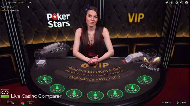 Pokerstars VIP Blackjack