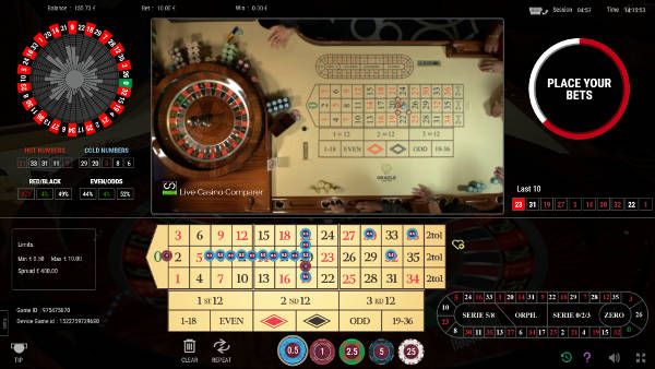 Mixed playing mode for roulette 360