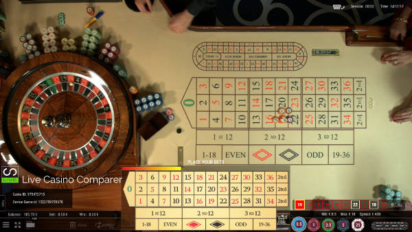 roulette 360 overhead table view