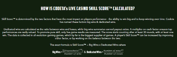 codeta skill score calculation