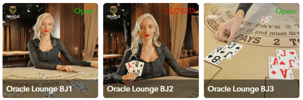 portomaso oracle live blackjack dealers