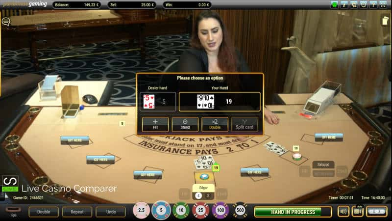 portomaso oracle live blackjack decisons