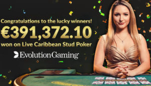 Evolution's €391,372.10 Progressive Jackpot