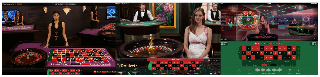 low stakes live roulette tables from Playtech Evolution and Netent