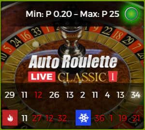 authentic gaming Auto roulette classic 1
