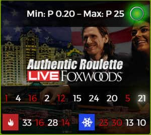 authentic gaming Foxwoods Roulette