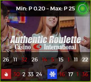 authentic roulette casino international