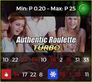 authentic gaming turbo roulette