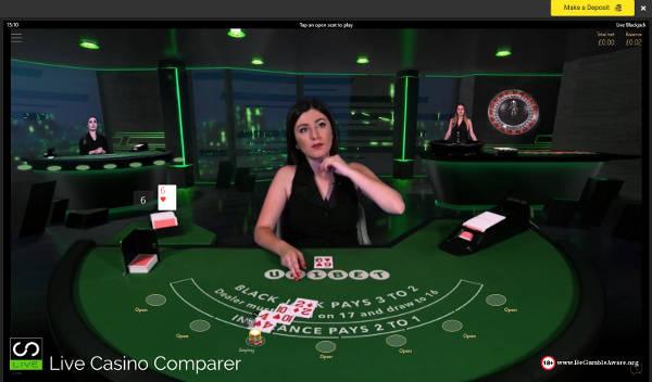 Unibet Virtual Studio Live Blackjack