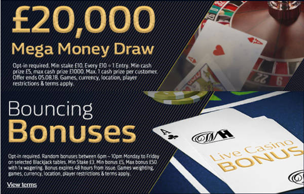 Prize Draw at William Hill