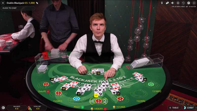 dublinbet dedicated blackjack table