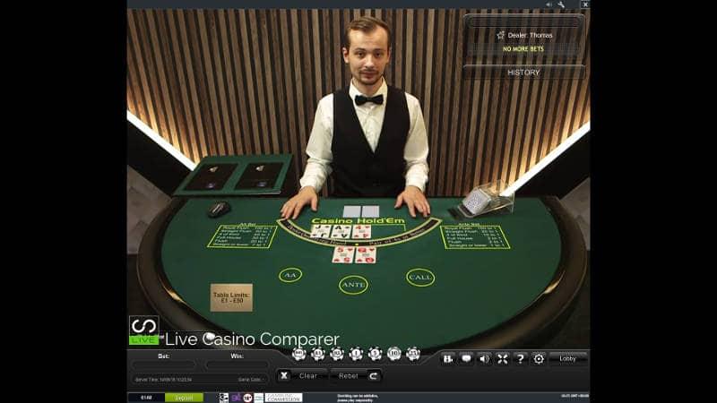 playtech live casino holdem original table